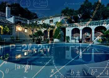 Como calcular o volume de uma piscina cilíndrica?